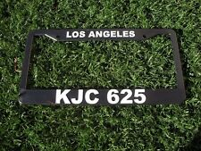 4 Qty - Los Angeles Police Dept Calif KJC 625 License Plate Frame 99 11 CHP LAPD