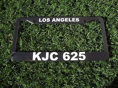 Buick LaCrosse Notched Black Powder Coated Metal License Plate Frame