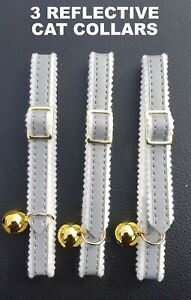 Reflective-Cat-Collars-x3-in-Silver-by-ANCOL