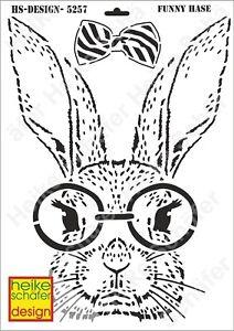 Schablone-Stencil-A3-131-5257-Funny-Hase-Neu-Heike-Schaefer-Design