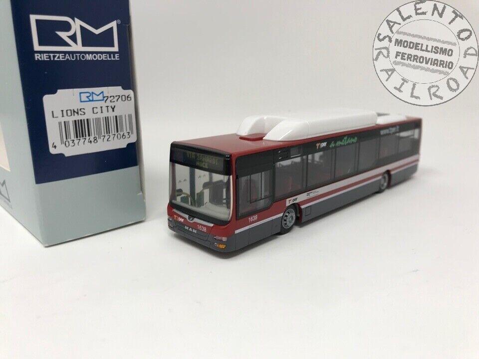Rietze 72706 Bus Urbain Man Lion's City Tto Bologne Linea 18 - 1 87