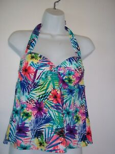 9aefe6ea96f Collections by Catalina Women s Size S (4-6) Halter floral Tankini ...