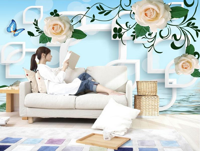 3D Elegante Rosa 8532 Tapete Wandgemälde Tapete Tapeten Bild Familie DE Summer | Zahlreiche In Vielfalt  | Verschiedene aktuelle Designs  | Outlet
