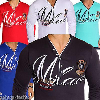 Beliebte Marke Zahida Herren Sweatshirt Langarmshirt Sweat Longsleeve Langarm T-shirt Milan Neu