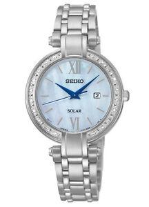 Seiko SUT181 SUT181P9 Ladies Solar Diamond Watch Mother of Pearl RRP $695.00
