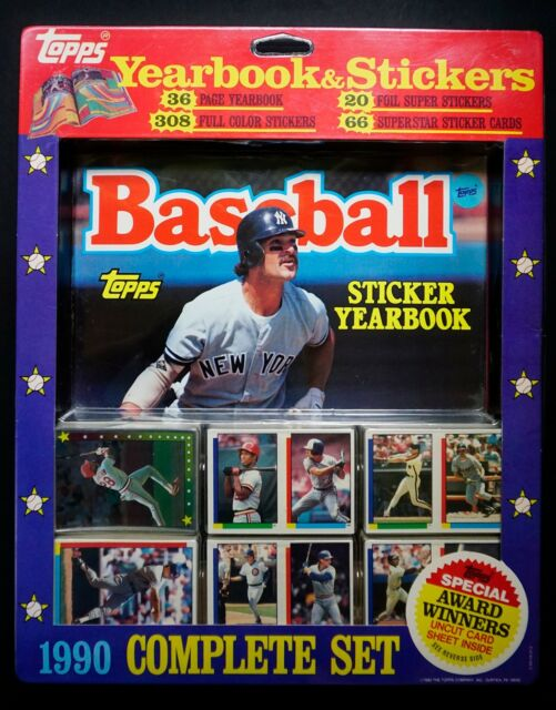 1990 Topps Baseball Yearbook Stickers Complete Set Unopened