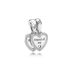 449d7ad84 Image is loading Authentic-PANDORA-792147CZ-Heart-Split-Charm-Friend-of-
