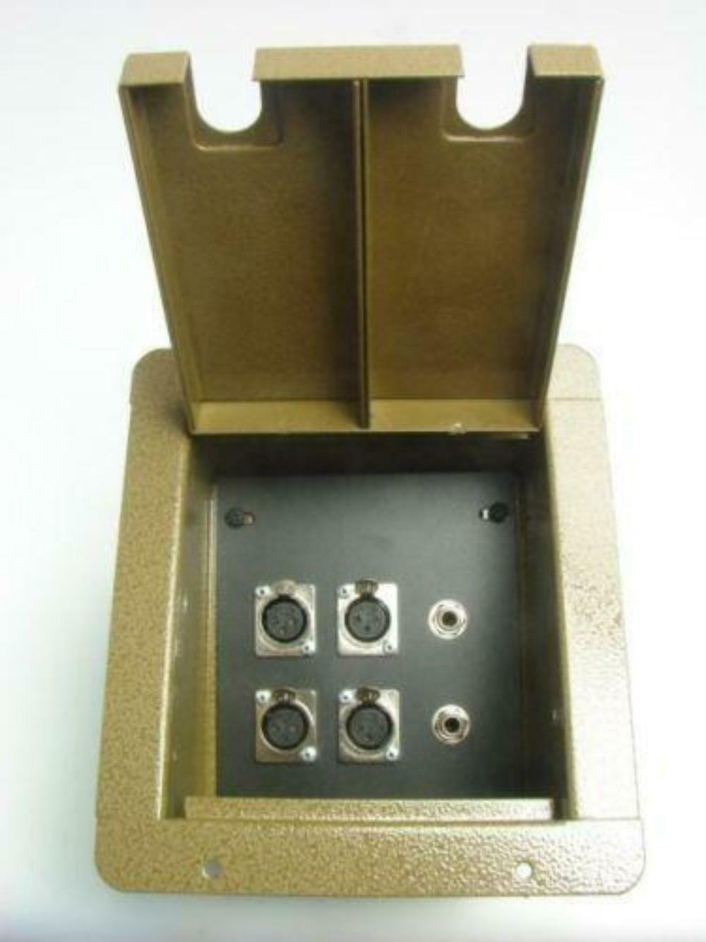ProCraft Pro Audio Recessed Stage Floor Pocket Box 4 XLR Channel, 2 1 4  - BH