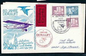 97469) Rda Coursier So-carte So-lp 60 J. Deruluft Berlin-moscou 1.5.82 N. Riga-afficher Le Titre D'origine AgréAble En ArrièRe-GoûT