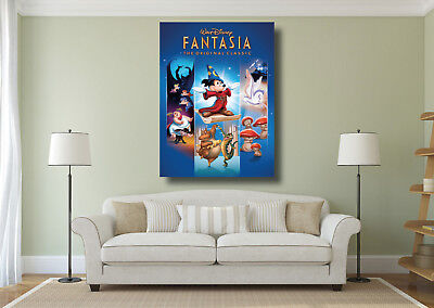 A0 A1 Fantasia Mickey Mouse Disney Classic Movie Large Wall Art Poster Print
