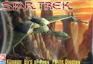 AMT-ERTL-Star-Trek-KLINGON-Bird-of-Prey-Flight-Display-New-Model-Kit-NIB-M106