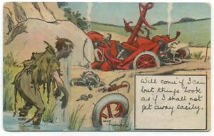 Comic-Car-Crombie-Will-Come-If-I-Can-Postcard