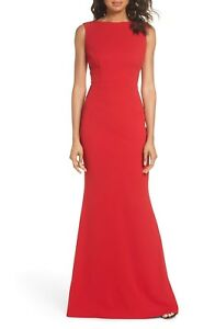 KATIE-MAY-Red-Vionnet-Cowl-Drape-Back-Stretch-Crepe-Gown-Dress-2