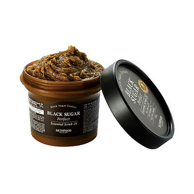 [SKINFOOD] Black Sugar Perfect Essential Scrub 2X - 210g (New)