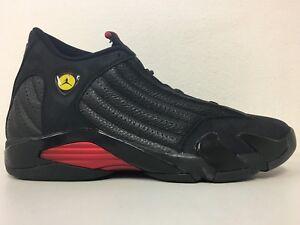 d211724b0dd7 Nike Air Jordan 14 Retro Black Varsity Red Last Shot 487471-003 Mens ...