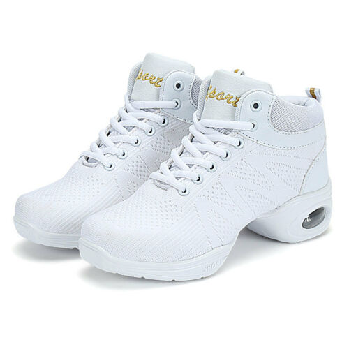 Ankle Top Jazz Dance Sneakers Woman Breathable Mesh Hip Hop Fitness Dance Shoes