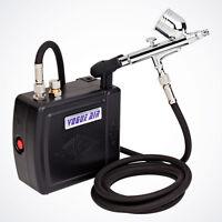 Airbrush Kit Compressor Nail Art Tattoo Dual Action Spray Air Brush Gun Set