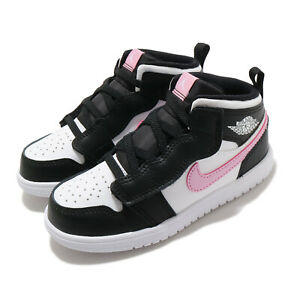 Nike-Jordan-1-Mid-ALT-TD-Light-Arctic-Pink-Black-White-Toddler-Infant-AT4613-103