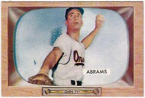 Details About 1955 Bowman Baseball Card 55 Cal Abrams Baltimore Orioles