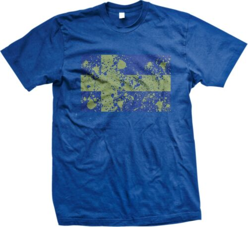 Mens T-shirt Sweden Swedish Distressed Flag World Cup Nationality Ethnic Pride