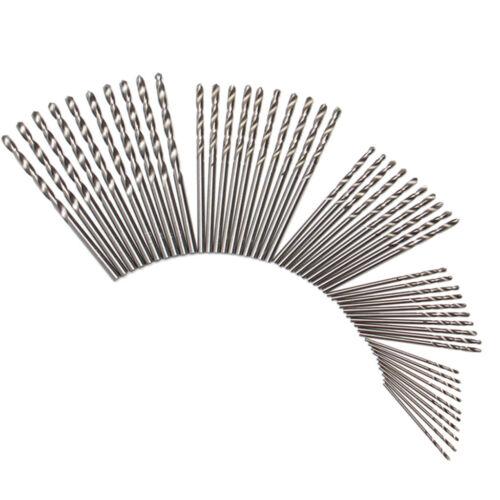 50x HSS Titanium Twist Drill Bit Set Plastic Aluminum Power Wood Drills Tool