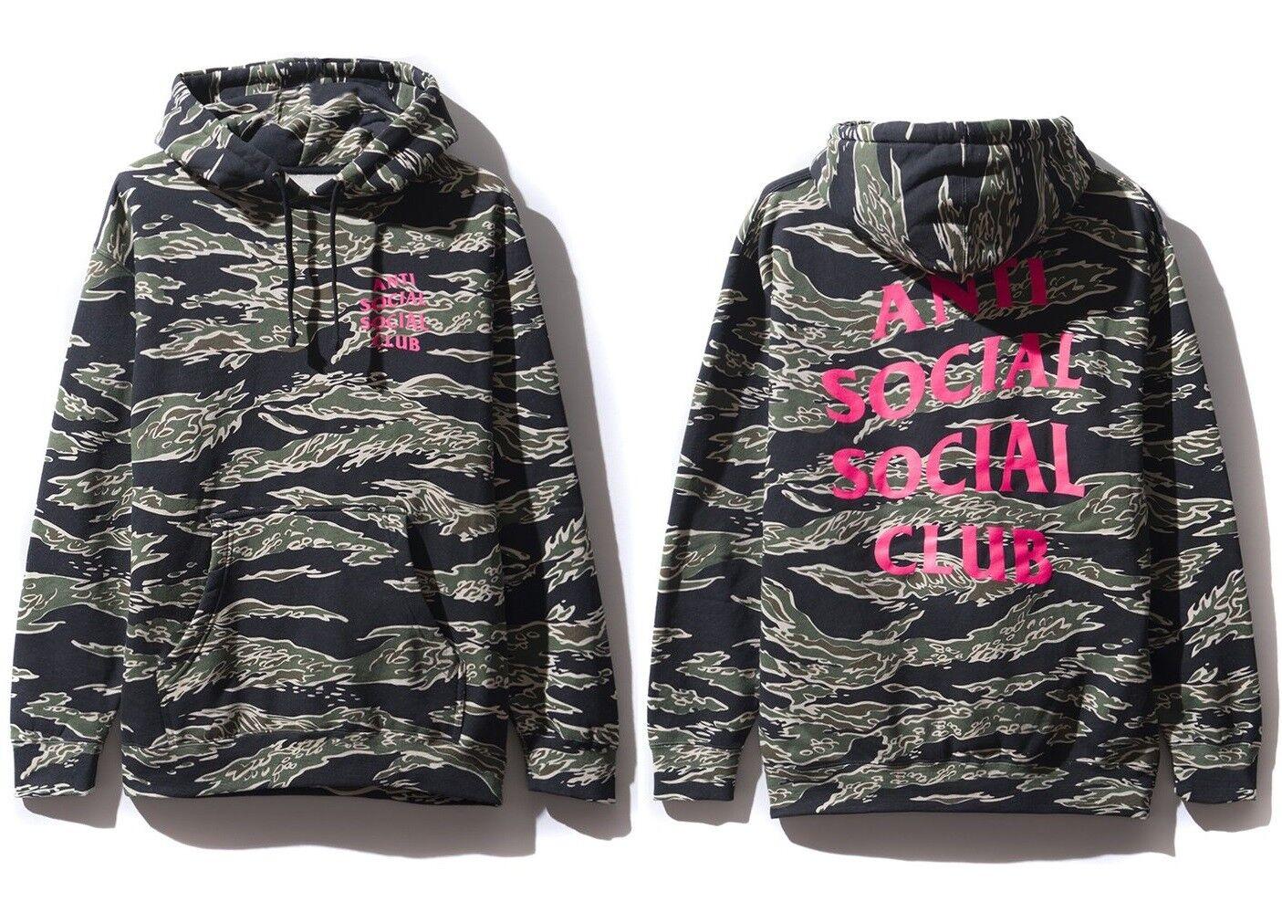 Anti Social Social Club ASSC pink logo Cheetah Tiger shark Camo Hoodie Supreme