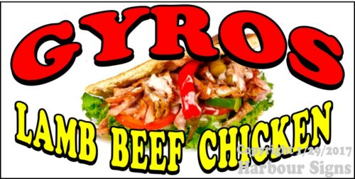 Gyros Lamb Beef Chicken DECAL Food Truck Sticker Concession CHOOSE YOUR SIZE