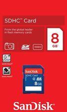 8GB SanDisk Class 4 SD HC Secure Digital SDHC Memory Card 8 GB