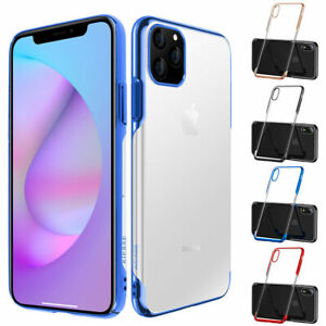 Slim-Shockproof-Clear-Case-TPU-Plating-Bumper-Cover-For-Apple-iPhone-11-Pro-Max