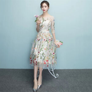 Flowers-Tulle-Lace-Fabric-Floral-Craft-Embroidery-Wedding-Dress-Trim-Sewing