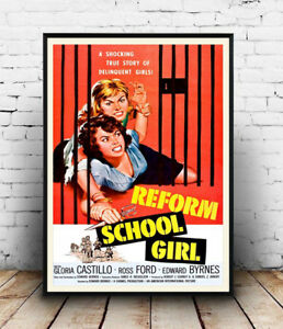 Reform-School-Vintage-Movie-advert-Reproduction-poster-Wall-art