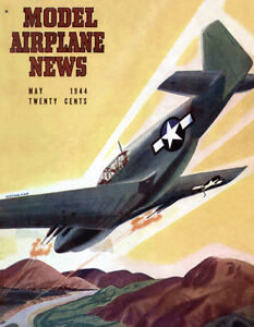 Model-Airplane-News-Mustang-P-51-B-May-1944-Magazine-Cover-Poster