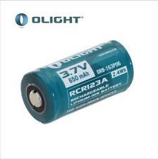Original RCR123A 16340 3.7V 650mAh Rechargeable Li-ion Battery for Flashlight