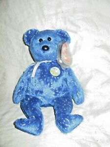 Royal Blue Version TY Beanie Baby - MWMTs 8.5 inch DECADE the Bear