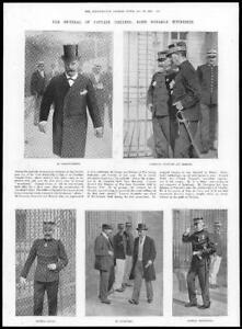 1899-Antique-Print-FRANCE-Rennes-Captain-Dreyfus-Re-Trial-Witnesses-300