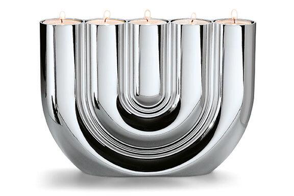Philippi Design Double U teelichthalter nuevo en el embalaje original elegante candeleros a. cromo