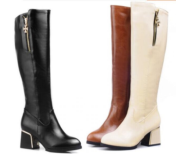 Stiefeletten Stiefel Schuhe Militärschuhe Frau Absatz 6 Leder Kunststoff Bequem