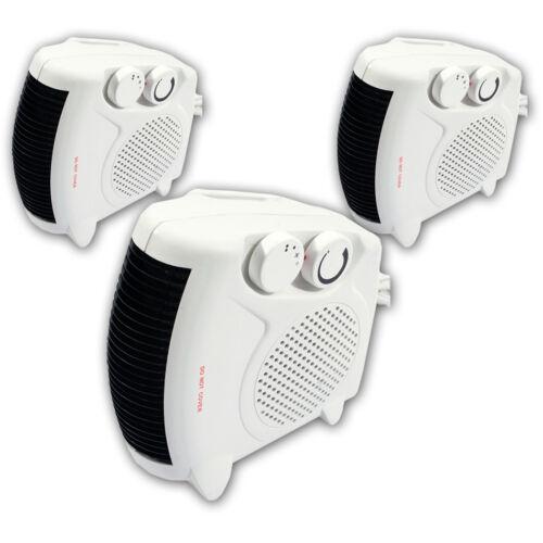 3 x 2000w portable silencieux ventilateur électrique chauffage hot /& cool nouveau chauffage debout