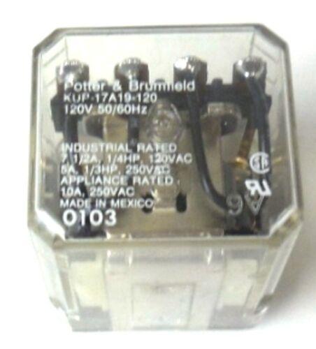 120 V POTTER /& BRUMFIELD KUP-17A19-120 50//60HZ RELAY