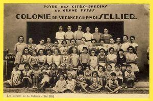 cpa-RARE-40-HOSSEGOR-1938-Enfants-COLONIE-Foyer-des-CITES-JARDINS-du-grand-PARIS