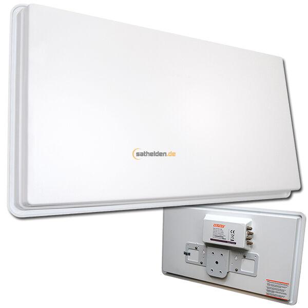 Selfsat H30D4 H30 D4 Quad Flachantenne Sat Spiegel Antenne 4 gebraucht