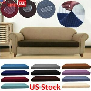 1-4-Seat-Washed-Waterproof-Sofa-Seat-Cushion-Cover-Couch-Stretchy-Slipcovers-US