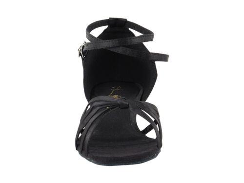 Women/'s West Coast Swing Salsa Ballroom Dance Shoes low Heel 1 Very Fine 6005FT