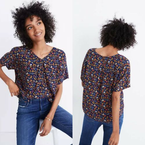Madewell Size 2XS Rhyme Top Garden Party Crepe Ove