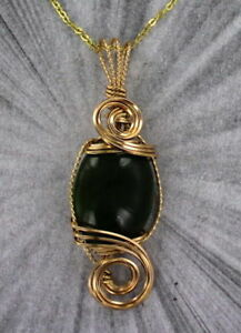 JADE-PENDANT-NECKLACE-SET-IN-14KT-ROLLED-GOLD-WIRE-WRAPPED-W-CHAIN