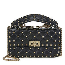Valentino Rockstud Spike Small Chain Bag - Black