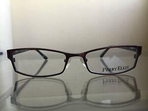 bagsclothesetc-NEW-PERRY-ELLIS-PE233-Unisex-Brown-Black-Metal-Eyeglass-Frames