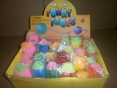 2 Stressbälle - mit Gesicht Knetball - Knautschball Mitgebsel Kindergeburtstag