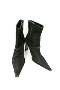 PARIS BIZZ Bottines MADE ITALIE TRES SHOE T37 Daim Noir IN YeED9WH2I