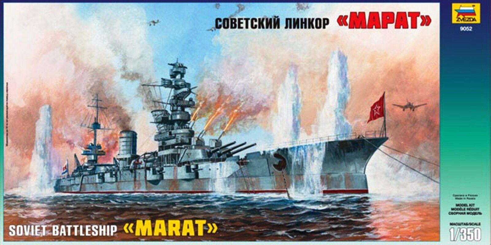 Zvezda 1 350 Scale Soviet Battleship Marat Kit No. 9052